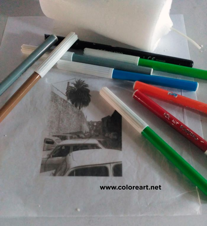 materiales para decorar vela con decoupage y calor