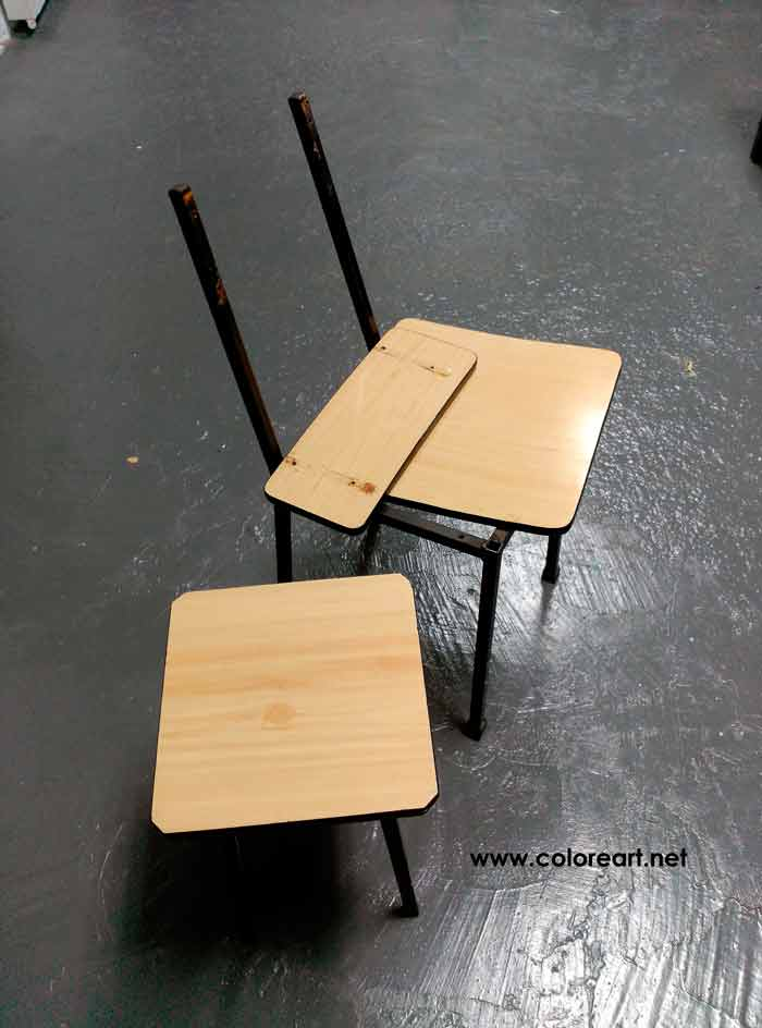 Como pintar muebles en este caso las sillas de formica de la abuela - Sillas formica ...