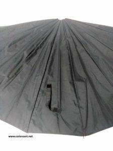 tela de paraguas desmontado