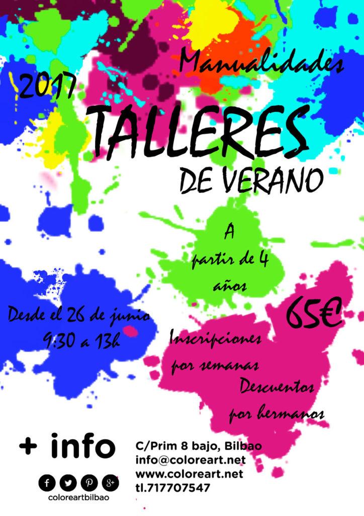 cartel actividades para niños verano 2017