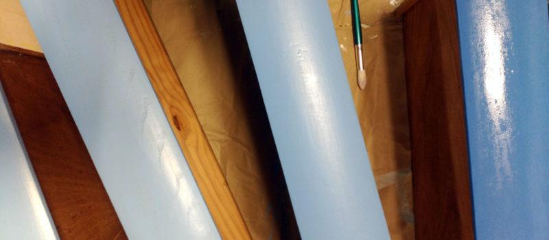 recuperación y reciclaje de cajones con pintura