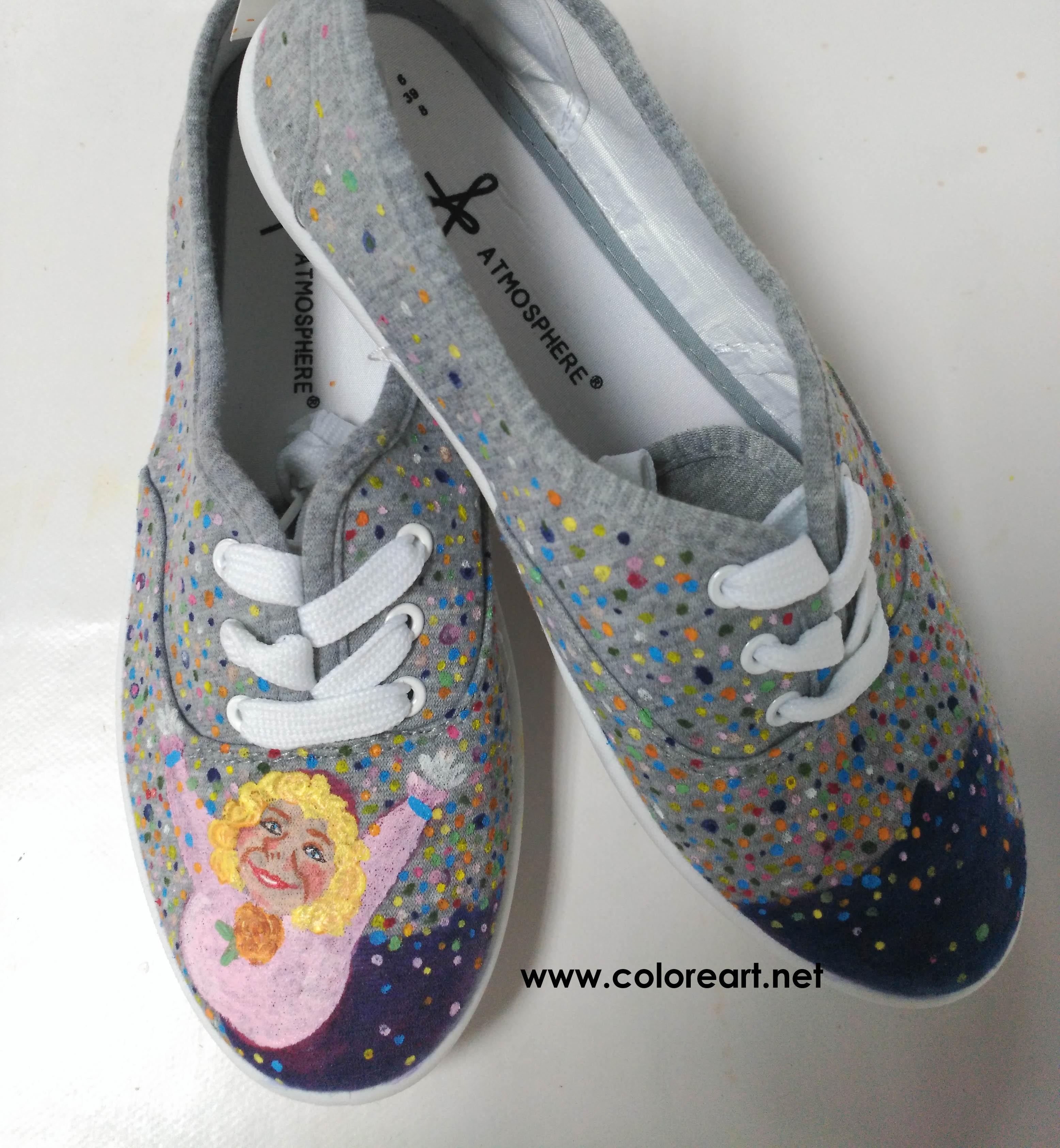 zapatillas pintadas a mano con Marijaia