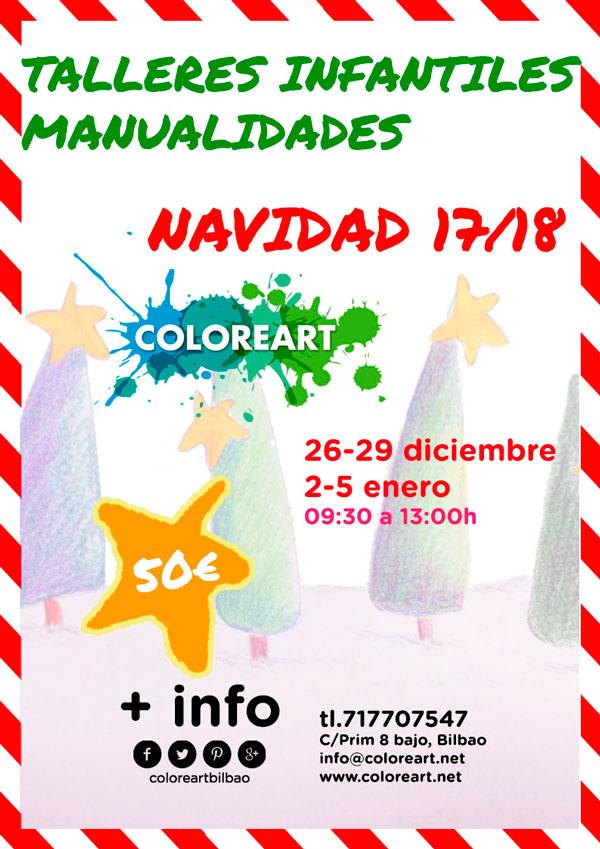 cartel actividades niños navidad
