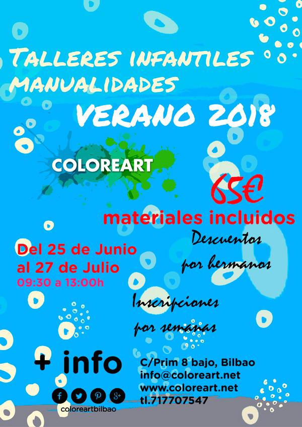 cartel actividades para niños verano 2018