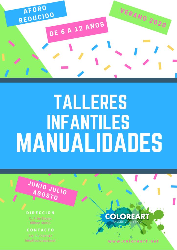 cartel manualidades coloreart verano 2020